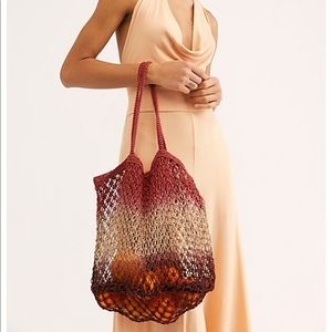 Free People Wildflower Hombre Jute Tote/ handbag